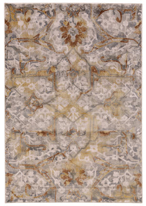 Feizy Cannes 3685f Gray - Yellow Area Rug