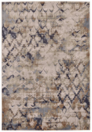 Feizy Cannes 3688f Blue - Beige Area Rug