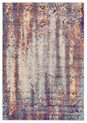 Feizy Emerson 3547f Turquoise - Orange Area Rug