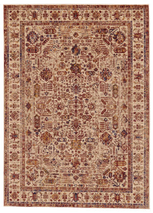 Feizy Hammond 3508f Cream - Rust Area Rug
