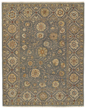 Feizy Amherst 0759f Medium Blue Area Rug