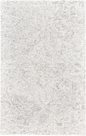 Feizy Rhett I8075 Light Gray - Ivory Area Rug