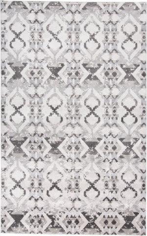 Feizy Prasad 3893f Gray - Ivory Area Rug