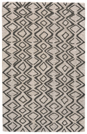 Feizy Enzo 8733f Charcoal - Taupe Area Rug