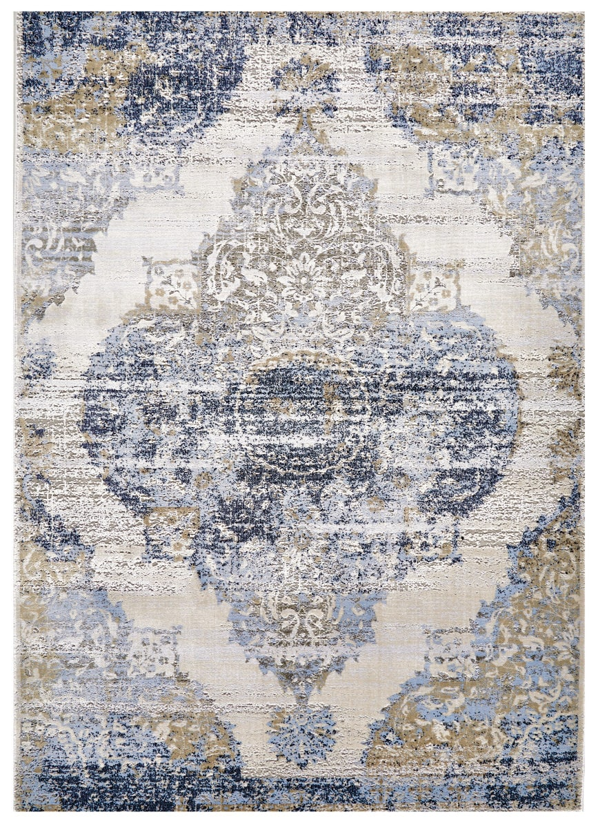 Feizy Marigold 3831f White Light Blue Rug Studio