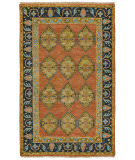 Feizy Ustad 6111f Rust - Charcoal Area Rug
