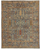 Feizy Carrington 6499f Blue - Rust Area Rug