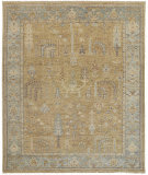 Feizy Carrington 6501f Gold - Light Blue Area Rug