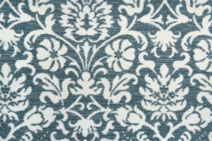 Hagaman Elegance Floral Flair Denim Area Rug