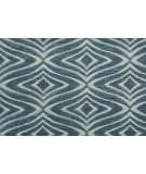 Hagaman Elegance Modern Trellis Steel Blue Area Rug