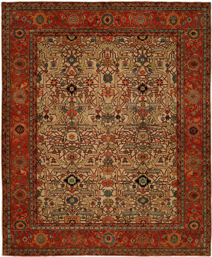 Hri Antique Heriz 109 Red - Blue Area Rug