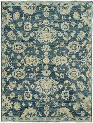 HRI Aria Ar-9 Dark Blue Area Rug