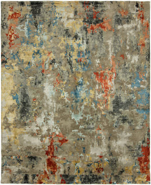 HRI Expressions Ex-5 Multi Color Area Rug