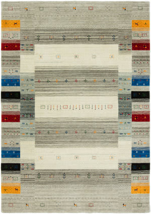 HRI Folk Fl-1126 Grey - Multi Area Rug
