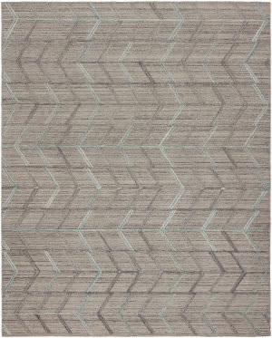 HRI Moma Mo-171 Charcoal - Blue Area Rug