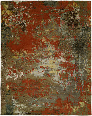 Hri Rosewood Ro-1428 Multi Color Area Rug