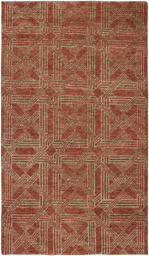 HRI Vesta Ve-51 Red Area Rug