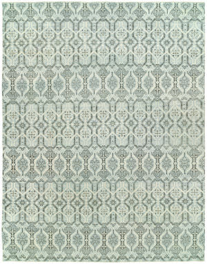 Hri Vogue 20-E Soft Blue - Ivory Area Rug
