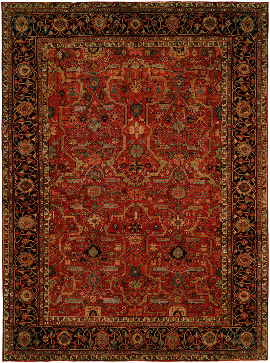 Hri Antique Heriz 104 Red Blue Rug Studio
