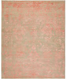 HRI Mystique My-6048 Grey - Rose Area Rug