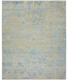 HRI Mystique My-7678 Grey - Blue Area Rug