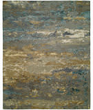 Hri Rosewood Ro-1427 Light Blue - Gold Area Rug