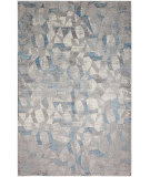 HRI Sunbrella 600 S6-01 Grey - Light Blue Area Rug