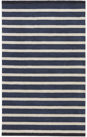 Jaipur Living Astor By Kate Spade New York Mariner Stripe Akn18 Black Area Rug