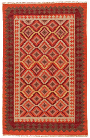 Jaipur Living Anatolia Izmir At06 Red / Medium Tabasco Outlet Area Rug