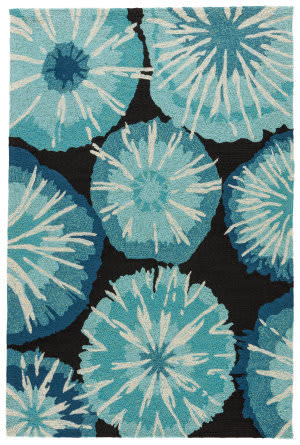 Jaipur Living Barcelona I-O Starburst Ba22 Pirate Black - Moroccan Blue Area Rug