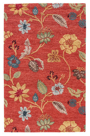 Jaipur Living Blue Garden Party BL05 Navajo Red/Marigold Outlet Area Rug