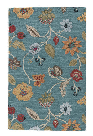 Jaipur Living Blue Garden Party Bl131 Pagoda Blue - Fog Area Rug