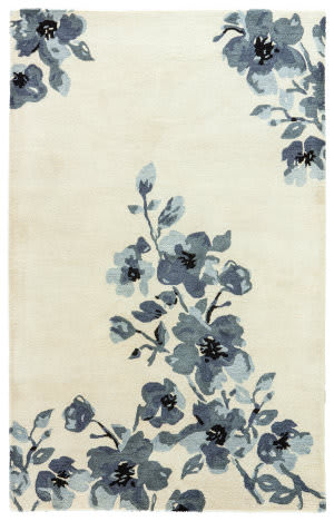 Jaipur Living Blue Hydrangeas Bl160 Oyster Gray - Ombre Blue Area Rug