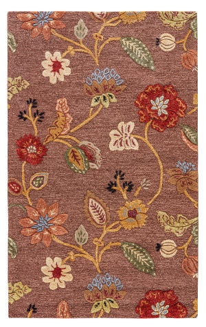 Custom Jaipur Living Blue Garden Party Bl45 Coffee Liqueur - Sauterne Area Rug