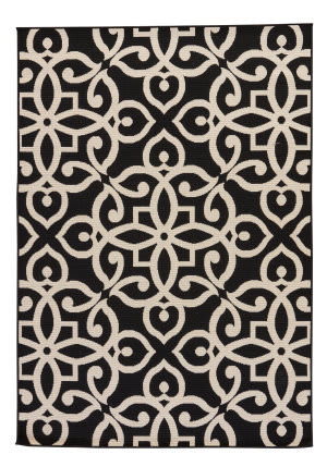 Jaipur Living Bloom Scrolled Blo12 Black Ink - Birch Area Rug