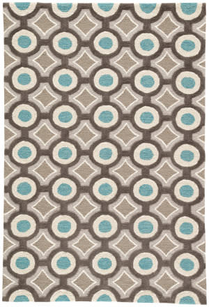 Rugstudio Sample Sale 74801R Deep Charcoal / Aegean Blue Area Rug