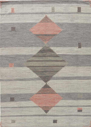 Jaipur Living Carolina Meyer Cal02 Light Gray and Dusty Coral Area Rug