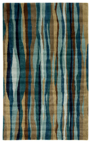 Jaipur Living Cascade Brooklyn Cas10 Mallard Blue - Dragonfly Area Rug