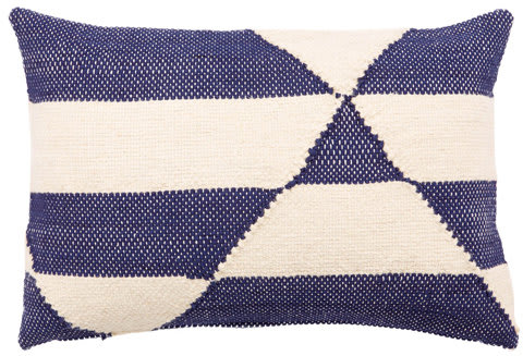 Jaipur Living Cosmic By Nikki Chu Pillow Otway Cnk25 Cream - Blue Area Rug