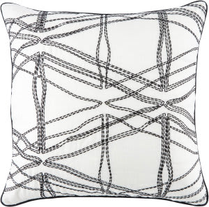 Jaipur Living Cosmic By Nikki Chu Pillow Feran Cnk26 White - Black Area Rug