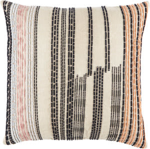 Jaipur Living Cosmic By Nikki Chu Pillow Nova Cnk31 Cream - Black Area Rug