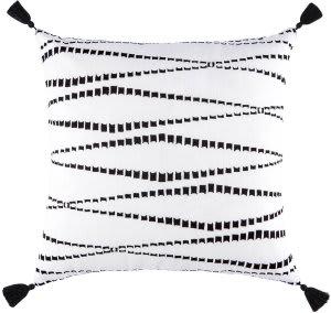 Jaipur Living Cosmic By Nikki Chu Pillow Kemina Cnk33 White - Black Area Rug