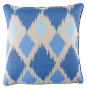 Jaipur Living Cosmic By Nikki Chu Pillow Nki43 Cnk39 Plaza Taupe - Moonlight Blue
