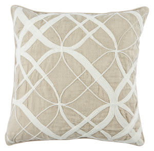 Jaipur Living Cosmic By Nikki Chu Pillow Otway Cnk40 Oxford Tan - Bone White