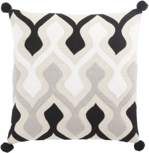 Jaipur Living Cosmic By Nikki Chu Pillow Ophelia Cnk49 Black - Ivory