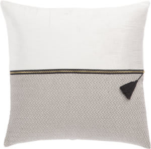 Jaipur Living Cosmic By Nikki Chu Pillow Kirat Cnk52 White - Light Gray