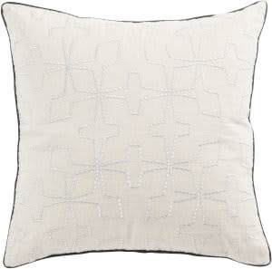 Jaipur Living Cosmic By Nikki Chu Pillow Greta Cnk58 Cream - Silver