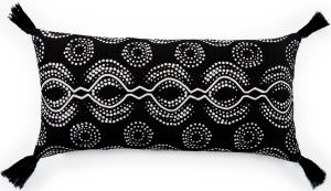 Jaipur Living Cosmic By Nikki Chu Pillow Satin Cnk67 Black - White