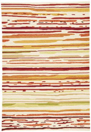 Jaipur Living Colours Sketchy Lines Co18 Snow White - Burnt Orange Area Rug