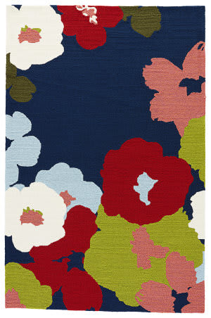Jaipur Living Colours I-O Wallflower Co26 Medieval Blue Area Rug